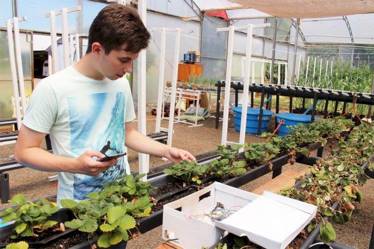 Estudante da Setrem desenvolve sistema de irrigação automatizado