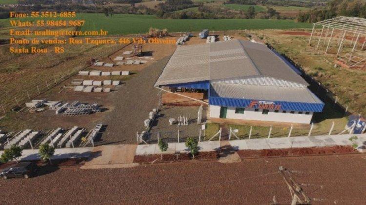 Artefatos de Cimento Santa Fé, há 30 anos presente em Santa Rosa e região