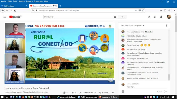 EXPOINTER DIGITAL 2020 – Jovens lançam Campanha Rural Conectado com apoio da Emater/RS-Ascar
