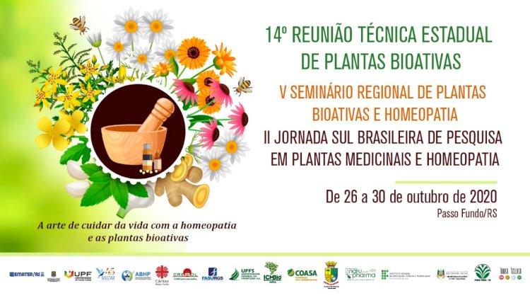 Inscrições abertas para evento de Plantas Bioativas e Homeopatia