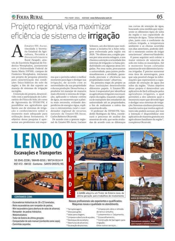 Folha Rural com nova edição circulando em toda a região