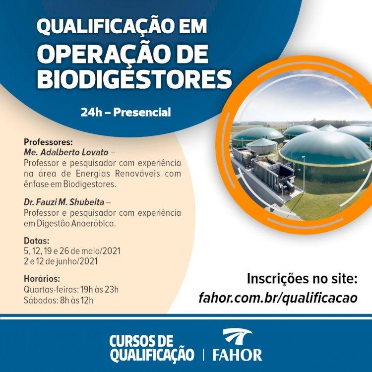 FAHOR promove curso inédito em Biodigestores