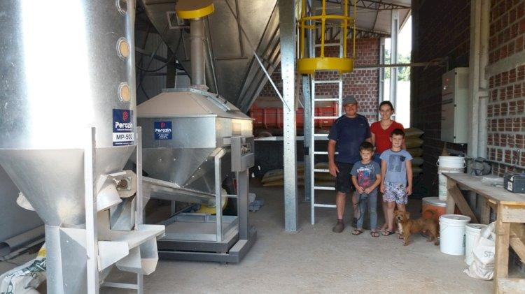 Produtor de Nova Candelária investe em secagem e armazenagem de grãos para produção de ração