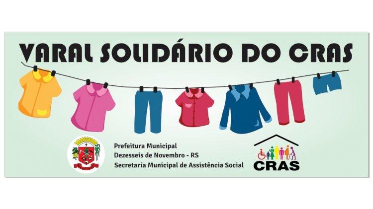 Varal Solidário mobiliza comunidade de Dezesseis de Novembro