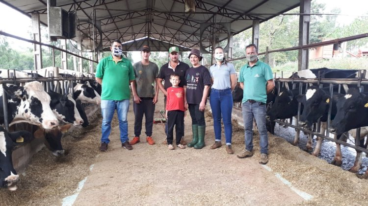 Assistência técnica da Cotrirosa contribui para Santo Cristo ser reconhecido como campeão gaúcho na produção leiteira