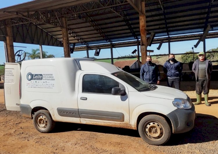 Com minilaboratório móvel, técnicos da Unitec realizam aferição da atividade leiteira na região